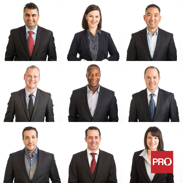 Team headshots for business